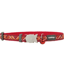 Cat Collar 12 mm x 20-32 cm– Flanno Red