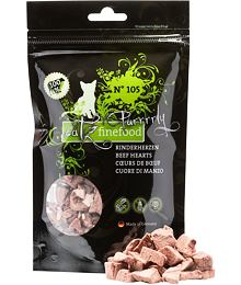 Catz finefood Purrrrly N ° 105 - dried beef hearts, 100% meat