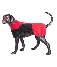 Puff-Doggy – Insulated Coat - Red/ Blk – Medium
