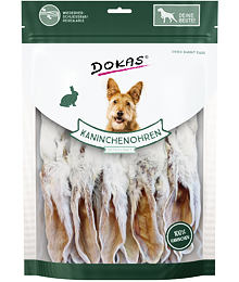 Dried rabbit ears with fur 180 g