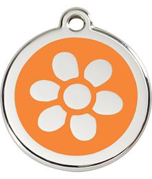 Pet ID Tag - Flower Yellow