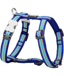 Dog harness 12 mm x 30-44 cm - Horizontal Stripes Navy