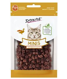 PACK 10 pcs - Dokas - Minis - Duck breast and salmon cubes with catnit 30 g
