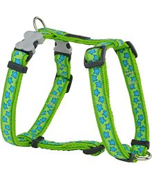 Dog Harness 12 mm x 30-44 cm - Stars Turquoise