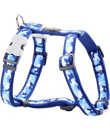 Dog Harness 12 mm x 30-44 cm - Camouflage Navy