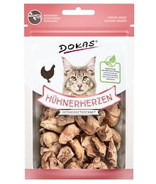 Dokas - Freeze-dried chicken hearts for cats 15 g