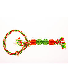 Baxter Tug-of-war toy with 4 balls and a loop