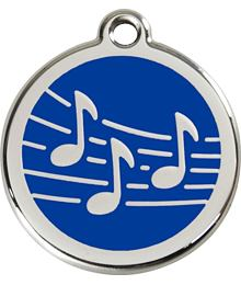 Pet ID Tag - Music Navy