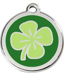 Pet ID Tag - Clover Green