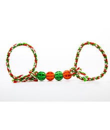 Baxter Tug-of-war toy with four balls and two loop