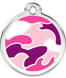 Pet ID Tag - Camouflage Hot Pink