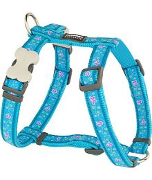 Dog Harness 12 mm x 30-44 cm - Butterfly Turquoise