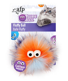 AFP Furry Ball Fluffy – with catnip