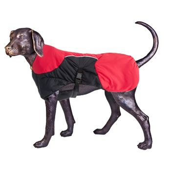Puff-Doggy – Insulated Coat - Red/ Blk – Small