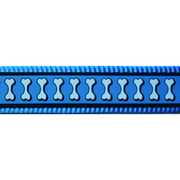 Multi Dog Lead 15 mm x 2 m – Refl. Bones Turquoise