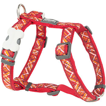 Dog Harness 25 mm x 56-80 cm - Flanno Red