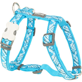 Dog Harness 15 mm x 36-54 cm - Flanno Turquoise