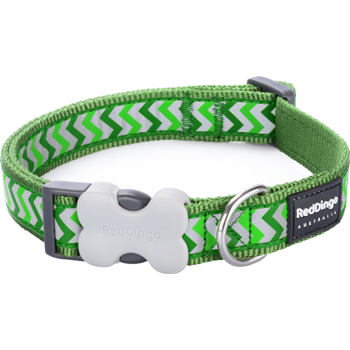 Dog Collar 25 mm x 41-63 cm – Refl. Ziggy Green
