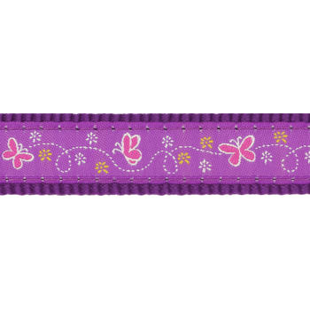 Dog Collar 20 mm x 30-47 cm– Butterfly Purple
