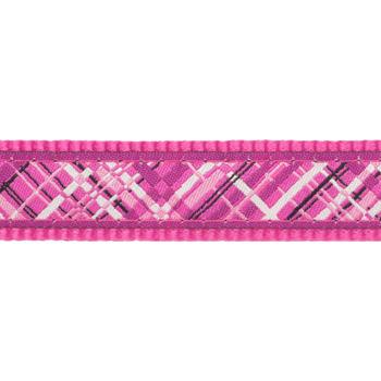 Dog Collar 20 mm x 30-47 cm– Flanno Hot Pink