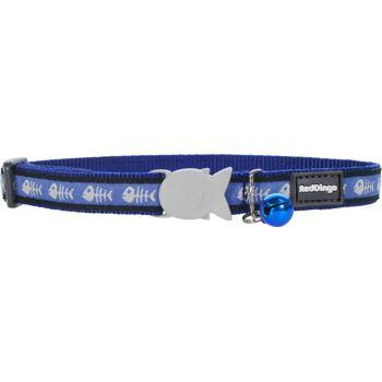 Cat Collar 12 mm x 20-32 cm – Fishbone Blue