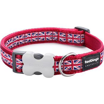 Dog Collar 12 mm x 20-32 cm – Union Jack Flag