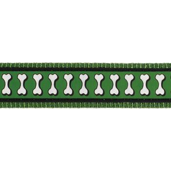 Dog Harness 20 mm x 45-66 cm – Refl. Bones Green