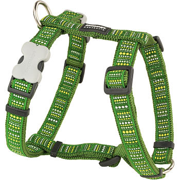 Dog Harness 25 mm x 71-113 cm - Lotzadotz Green