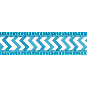 Dog Lead 12 mm x 1,8 m– Reflective Ziggy Turquoise