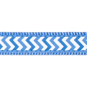 Martingale Dog Collar 25 mm – Refl. Ziggy Med.Blue