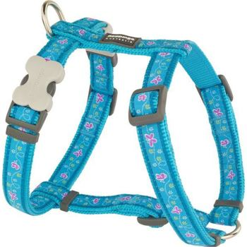 Dog Harness 25 mm x 56-80 cm - Butterfly Turquoise