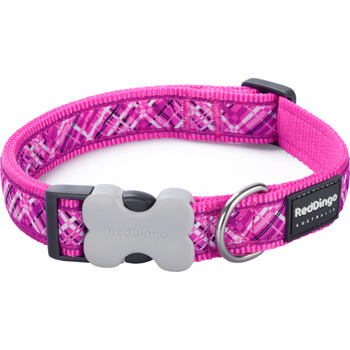 Dog Collar 25 mm x 41-63 cm– Flanno Hot Pink
