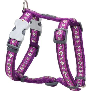 Dog Harness 25 mm x 56-80 cm - Daisy Chain Purple