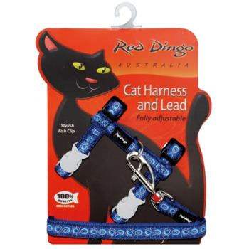 Cat Harnees & Lead - Cosmos Blue