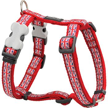 Dog Harness 12 mm x 30-44 cm - Union Jack Flag