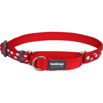 Martingale Collar 15 mm – White Spots on Red