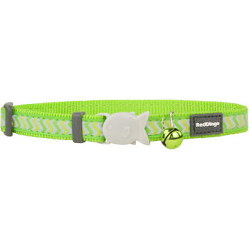 Cat Collar 12 mm x 20-32 cm – Refl. Ziggy Lime