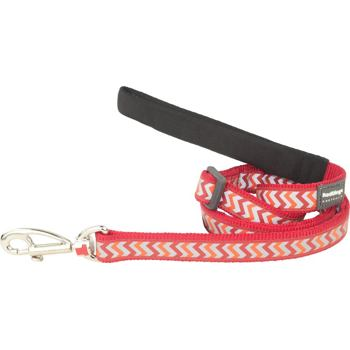 Dog Lead 20 mm x 1,8 m – Reflective Ziggy Red