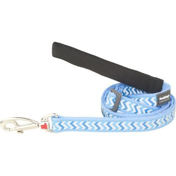 Dog Lead 25 mm x 1,8 m – Reflective Ziggy Med.Blue