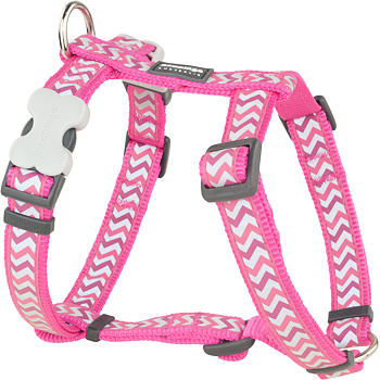 Dog Harness 15 mm x 36-54 cm– Refl. Ziggy Hot Pink