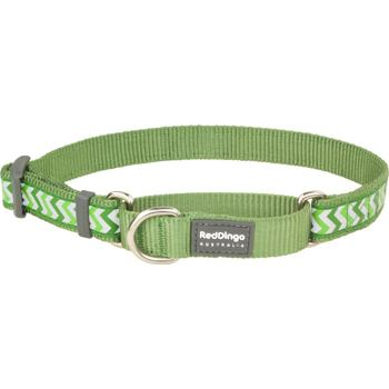 Martingale Dog Collar 25 mm – Refl. Ziggy Green