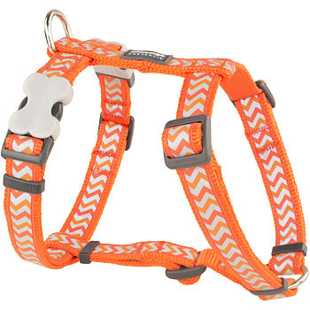 Dog Harness 12 mm x 30-44 cm – Refl. Ziggy Orange