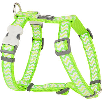 Dog Harness 25 mm x 71-113 cm – Refl. Ziggy Lime