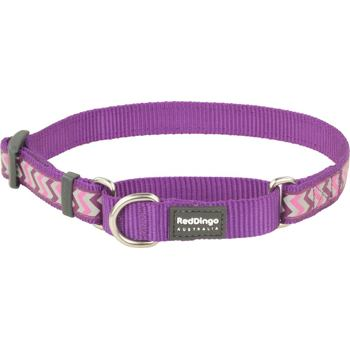 Martingale Collar 15 mm – Reflect. Ziggy Purple