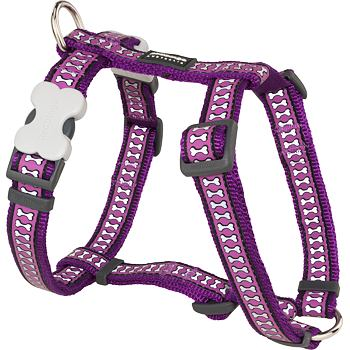 Dog Harness 12 mm x 30-44 cm – Refl. Bones Purple