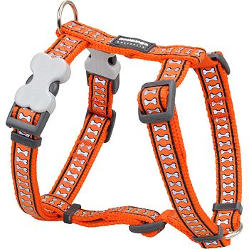 Dog Harness 25 mm x 56-80cm – Refl. Bones Orange