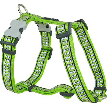 Dog Harness 20 mm x 45-66 cm – Refl. Bones Lime