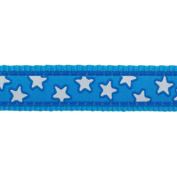 Dog Collar 15 mm x 24-37cm – Stars White