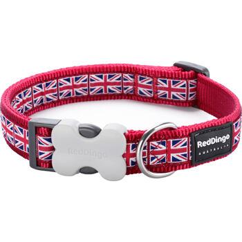 Dog Collar 20 mm x 30-47 cm – Union Jack Flag