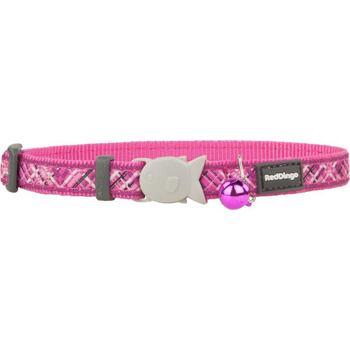 Cat Collar 12 mm x 20-32 cm– Flanno Hot Pink